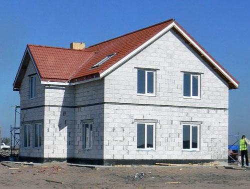 Дома из газобетонных блоков.
