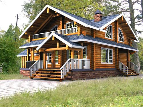 Дома из деревянных брусов.