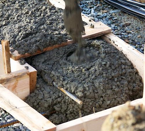 Заливка бетоном фундамента ленточного