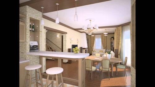 кухня Совмещение с гостиной.