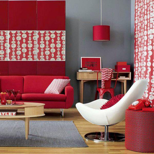 Красные идеи гостиной