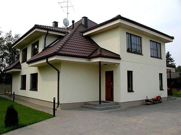Фото домов построенных из бетонных панелей.