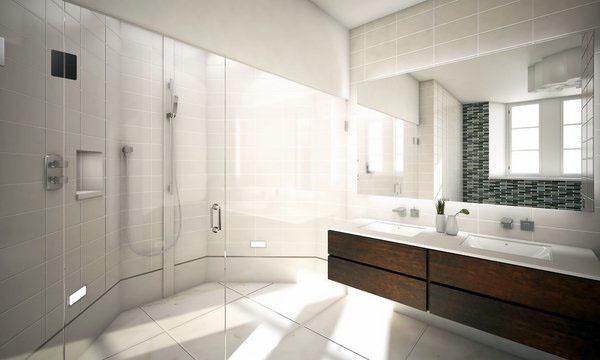 Элегантная плавающая суета современная ванная комната