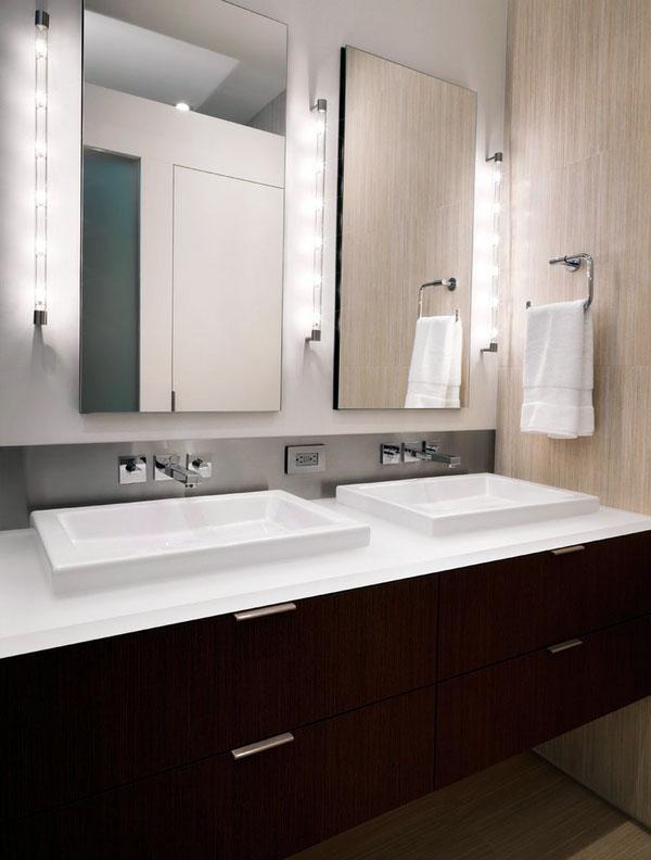 Ванная комната декор плавающие зеркала тщеславия настенные настенные светильники