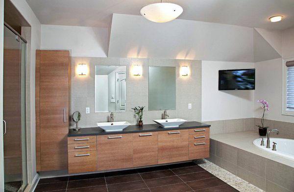 Современная ванная комната идеи суета современная мебель