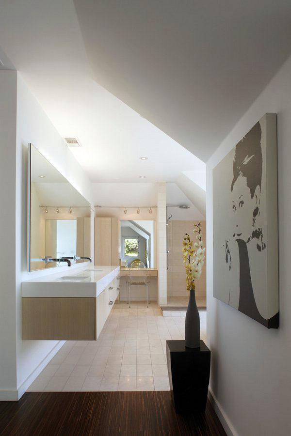 Современные идеи для ванной комнаты плавающие тщеславия двойные раковины настенные зеркала