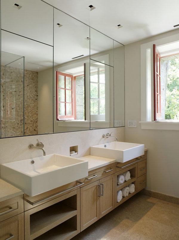 Современные зеркала для ванной комнаты