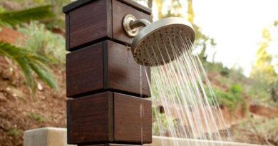 Идеи для душевых кабин на открытом воздухе