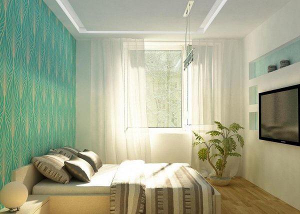 Эксцентрические стены в спальне.