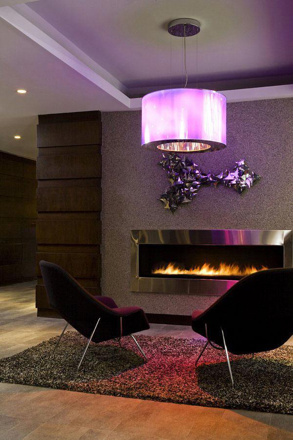 Впечатляющие дизайнерские идеи гостиная камин