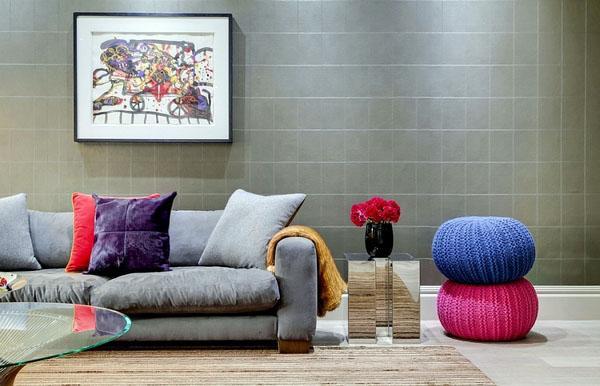 Идеи диван декоративные подушки.