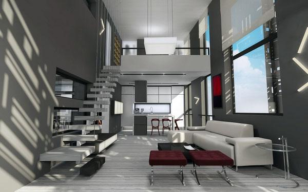 Великолепные идеи апартаментов на чердаке.