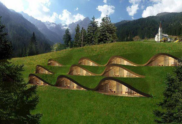 подземные дома современник домовые идея современный дом