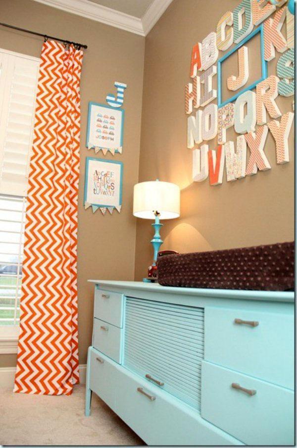 Современная гостиная комната зигзаг узор