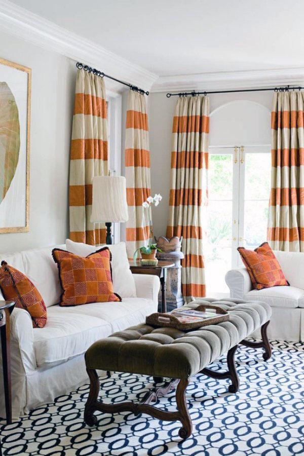 Занавески для гостиной - интересные и креативные идеи