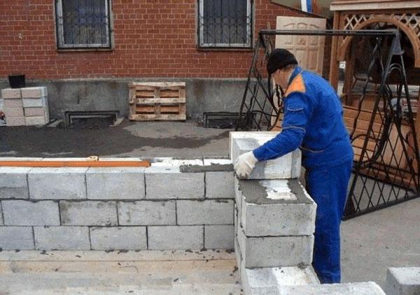 Закладка стен газосиликатными блоками