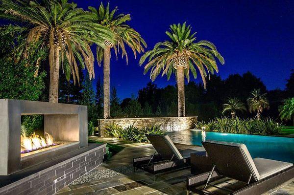 Бассейн палуба идеи пальмы