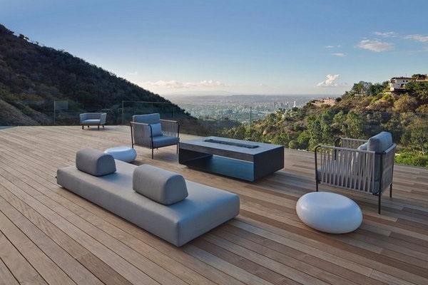 Деревянные патио полы современная мебель камин