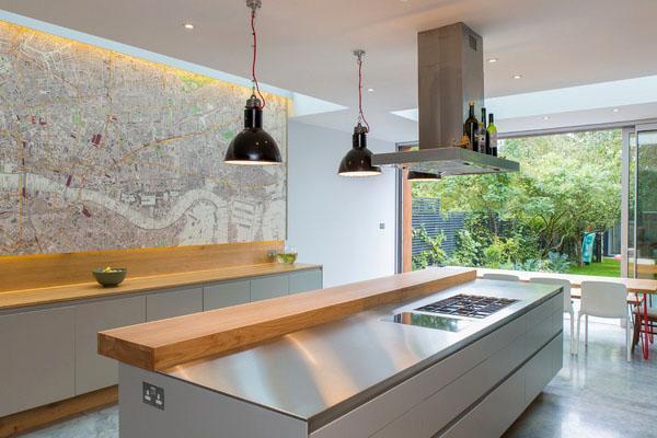 Потрясающие современные дизайнерские идеи для кухни на белом фоне