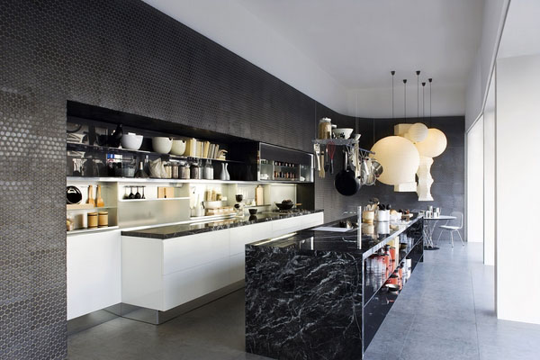 Ослепительный дизайн интерьера удивительная кухня островной мебели