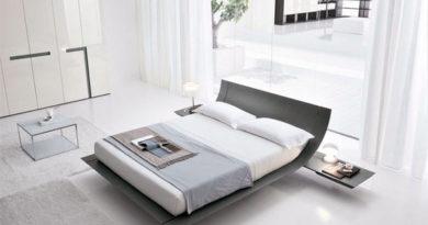 Минималистский дизайн в интерьере современной спальни.