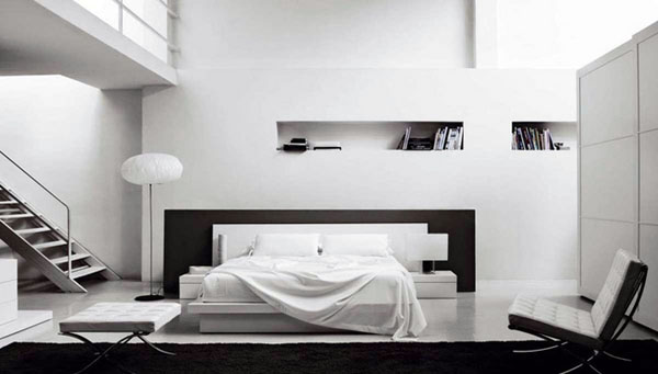 Белый - самый популярный цвет для минималистских дизайнов