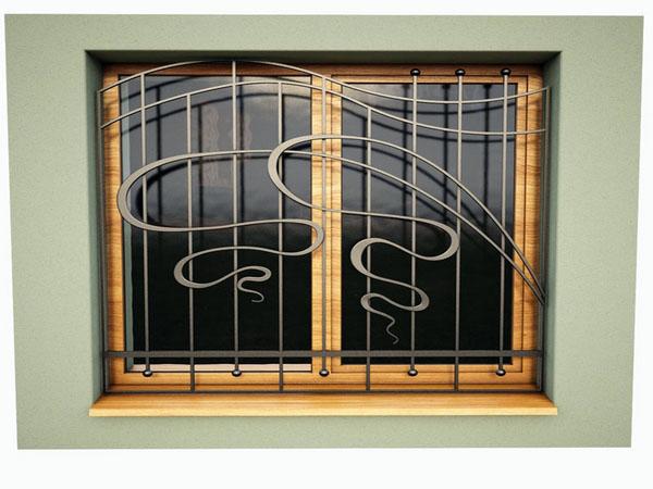 Окно защитное ограждение декоративное окно из кованого железа.