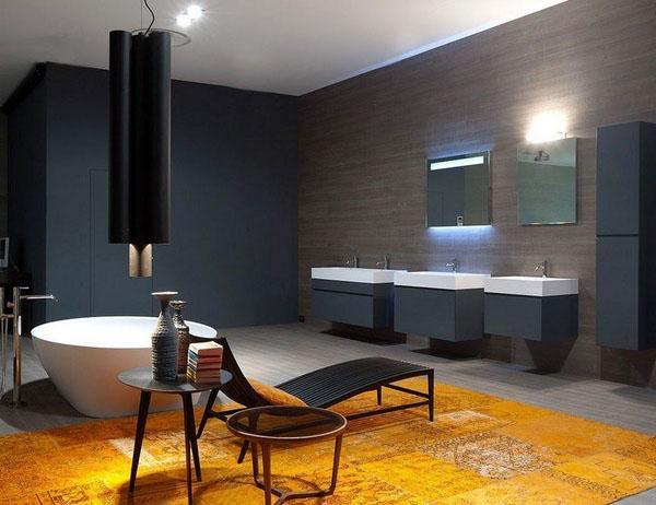 Идеи дизайна ванной комнаты японский