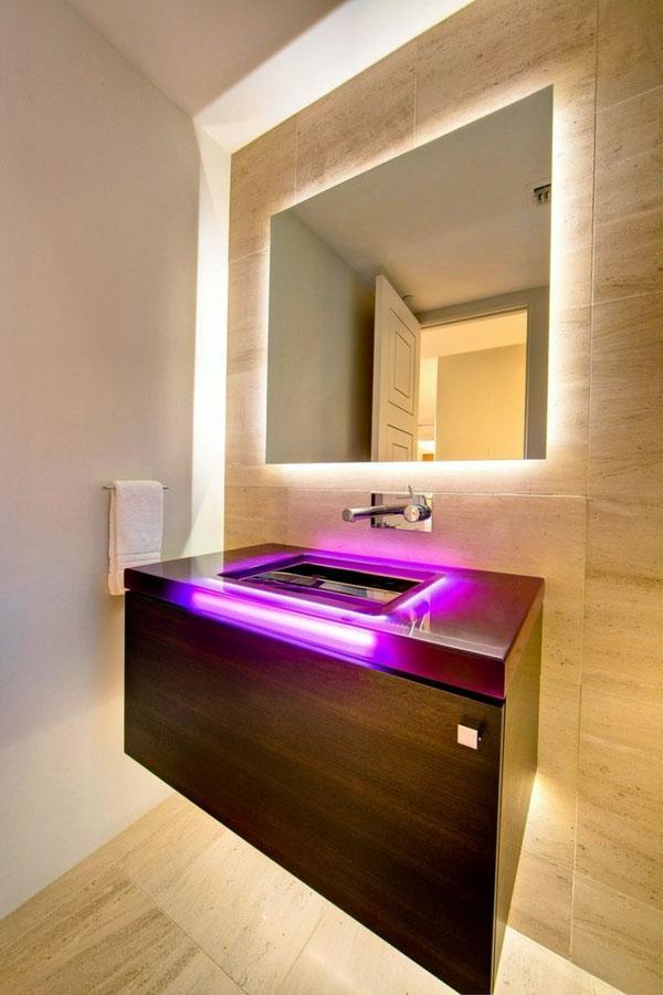 Идеи современная ванная комната светодиодное освещение