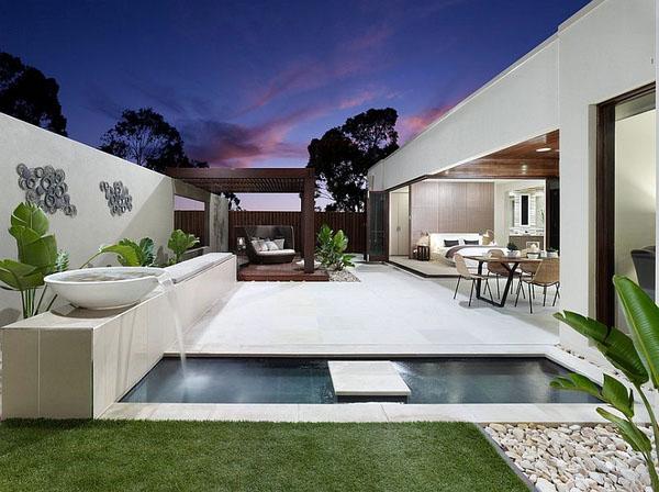 Дизайн современного маленького бассейна.