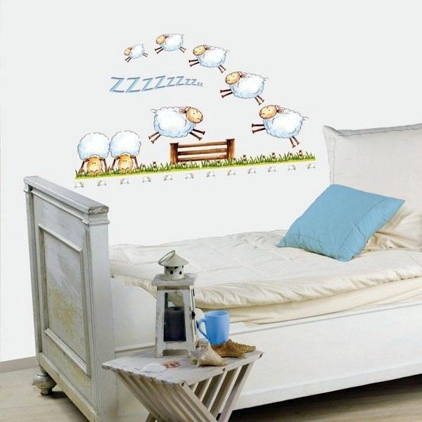 Идеи декорации стен, овцы.