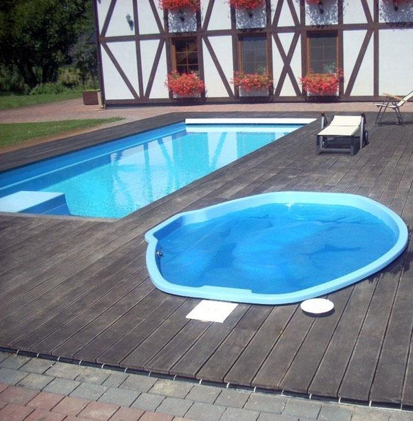Сад мечты, идеальный небольшой бассейн.