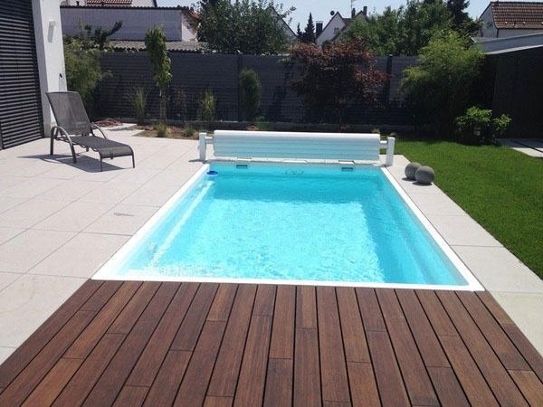 Идеи дизайна бассейна на заднем дворе.