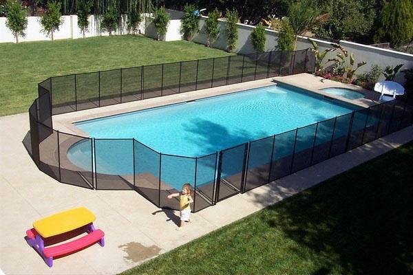 Ограждение для бассейнов, дизайн идеи безопасных заборов.