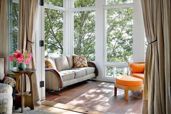 Дизайн небольшой солярий мебель идеи кресла боковой стол.