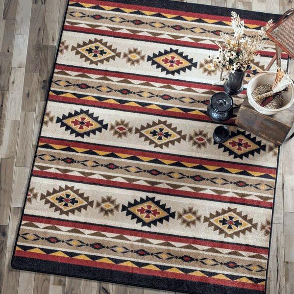 бревенчатый домик-декор-идея-зонная ковер-пол-покрытие-идей