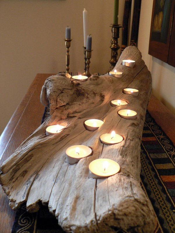бревенчатый домик-декор-идея-ванная комната-аксессуары-ванн