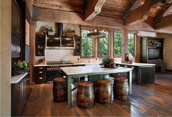 Бревенчатый домик, декор, интерьер, дизайн, журнальный столик, идеи для кухонь.