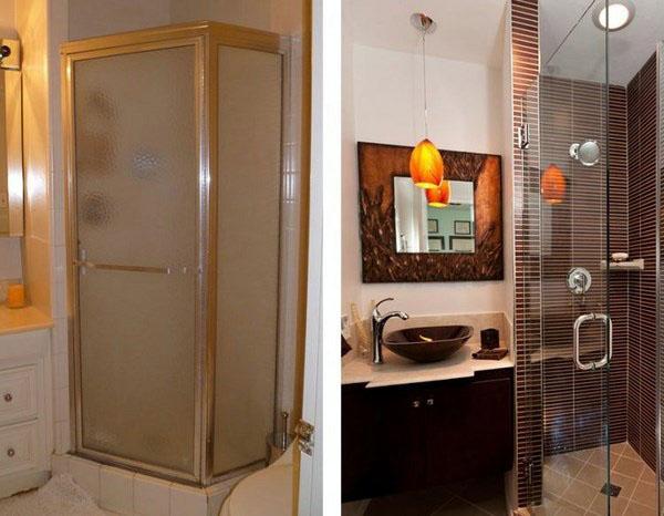 Идеи хранения небольших стеновых стенок ванных комнат