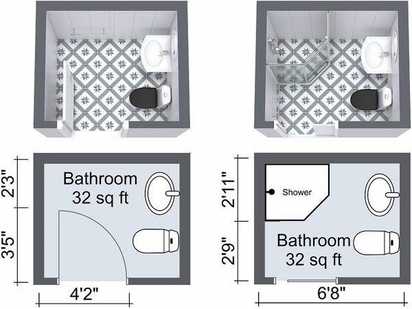Двери для маленькой ванной.