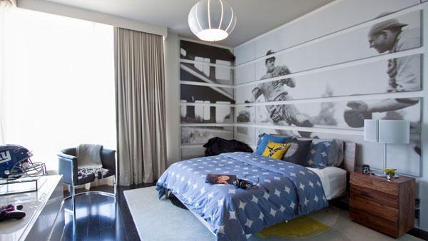 Стильные современные подростковые комнаты синие белые идеи спальни.