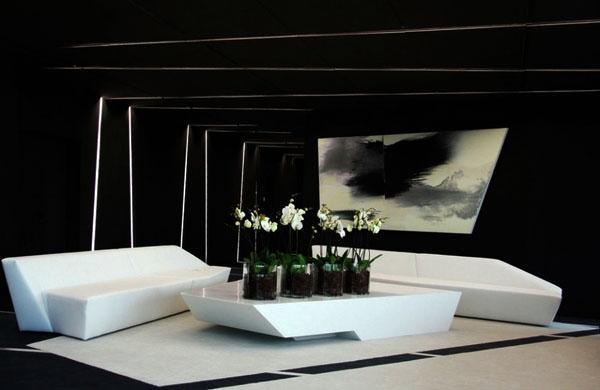 Черные идеи гостиной
