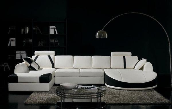 Белый диван, современные идеи дизайна интерьера.