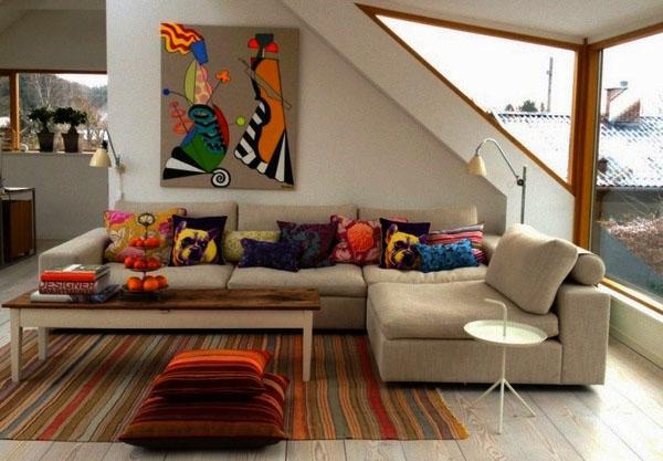 Выбор правильных цветов для небольшой гостиной.