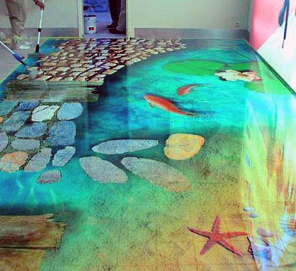 Декоративное наливное покрытие