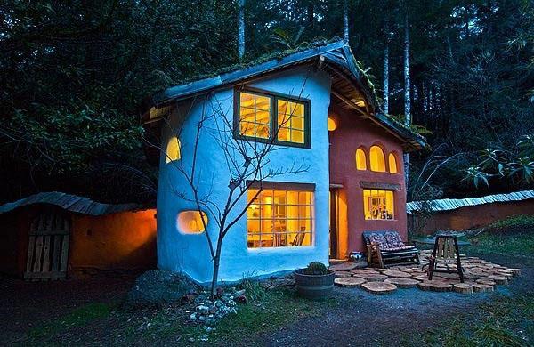 Внешний вид лесного дома.