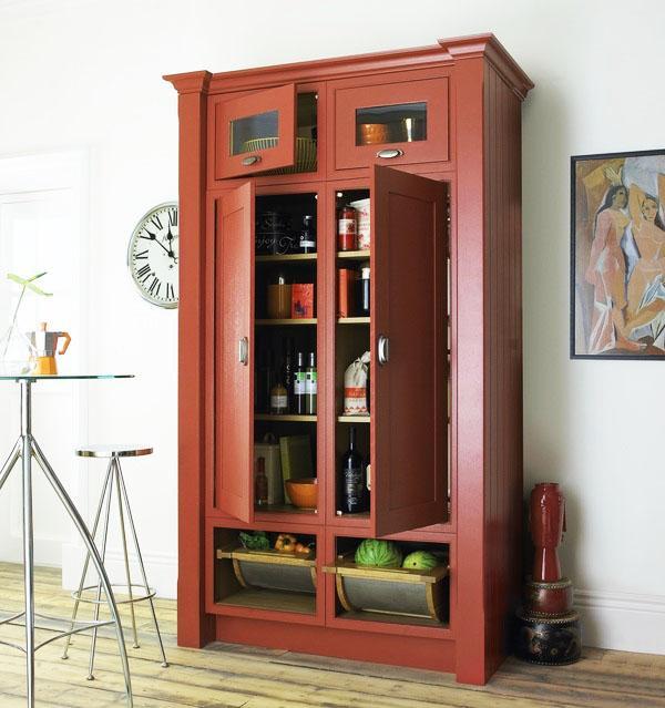 свободностоящая-кладовая-шкаф-кухня-организаторы-ФУД-хранения-идеи