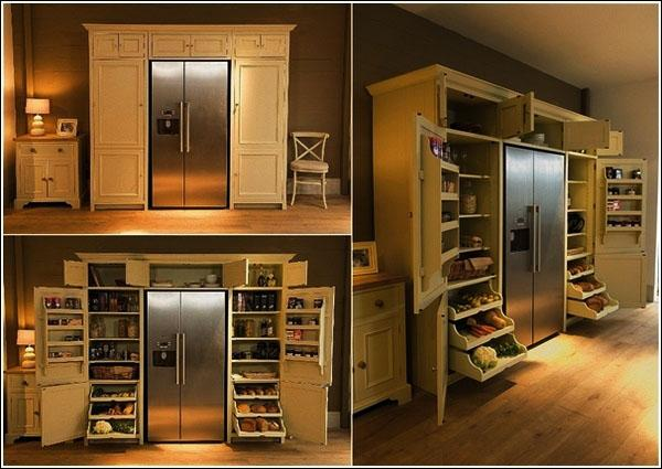 свободностоящая-кладовая-шкафы-кухня-хранения-идея-кладовая-организаторы