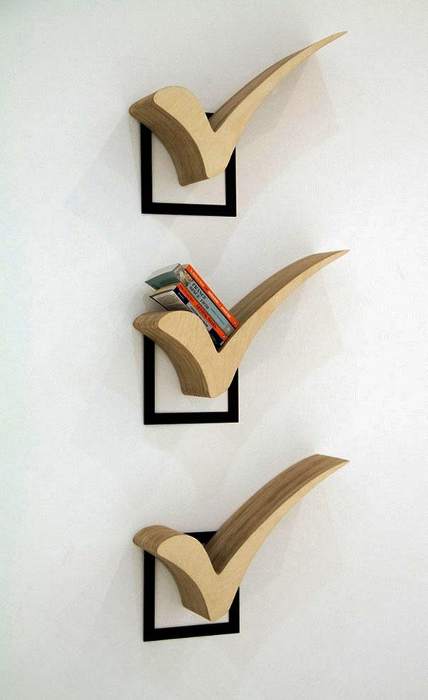 Современные идеи полочного дизайна.