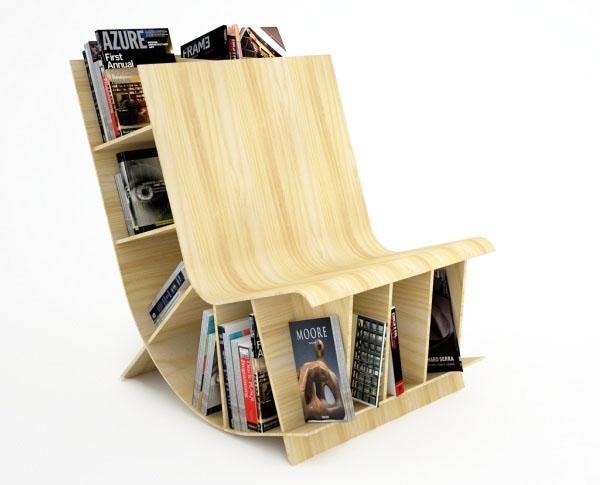 Креативные идеи книжных полок для оформления дизайна комнаты.